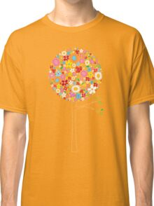 Whimsical Colorful Spring Flowers Pop Trees Classic T-Shirt