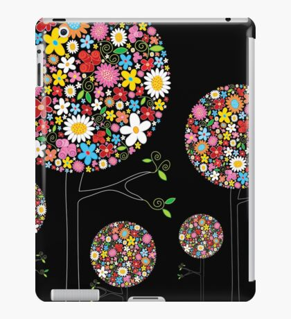 Whimsical Colorful Spring Flowers Pop Trees iPad Case/Skin