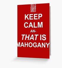 Calming Mahogany-White Greeting Card