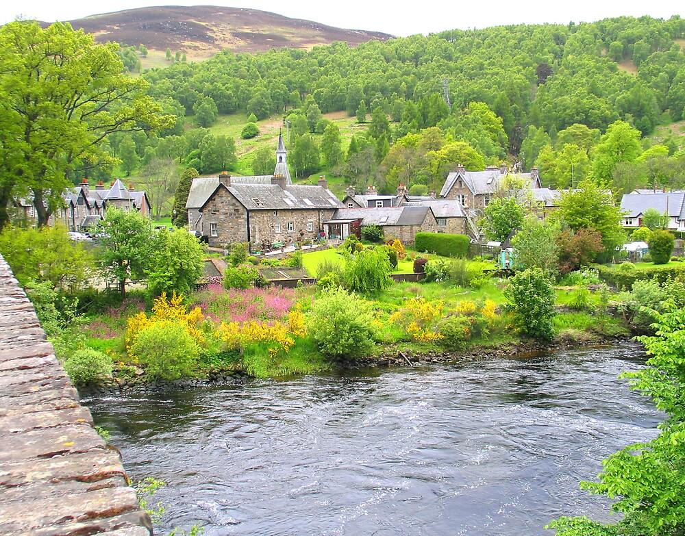 quaint Scottish village by John  Simmons