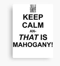 Calming Mahogany-Black Canvas Print