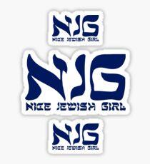 Nice Jewish Girl NJG Sticker