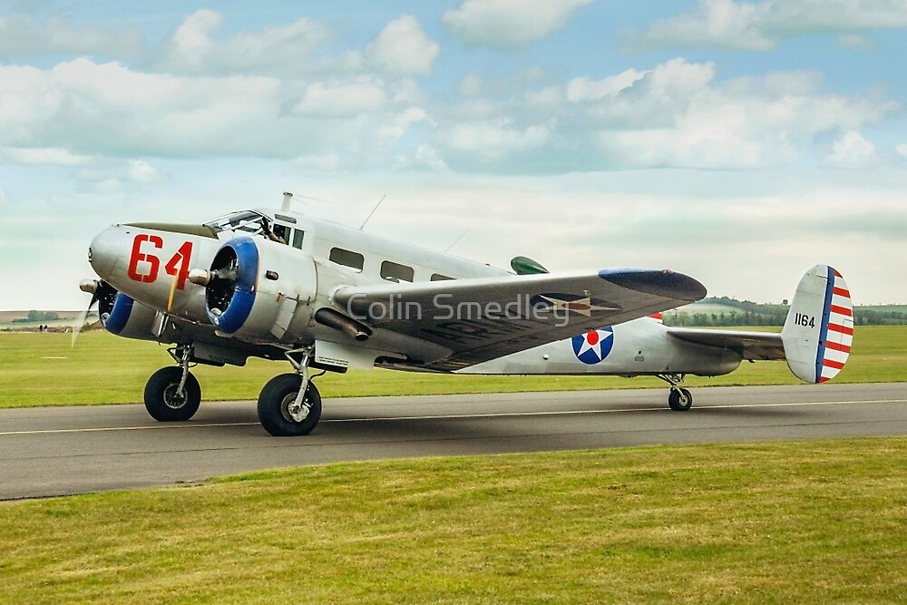 Beechcraft D18S Expeditor 3TM 1164 G-BKGL by Colin Smedley