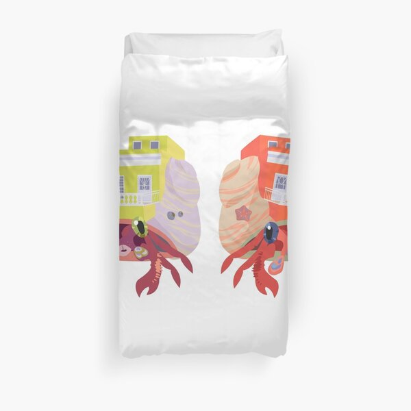 Sociable Introverts: Bright Hermit Crabs 1 Duvet Cover