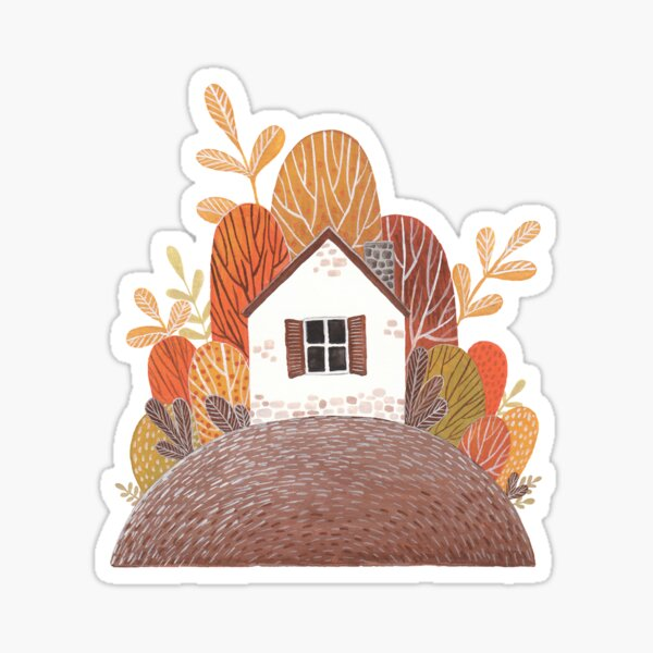 Tiny house in the garden Sticker