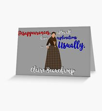 Outlander series - Claire Beauchamp Greeting Card