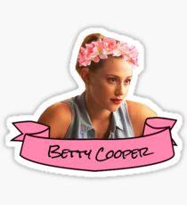 betty cooper flower crown sticker Sticker