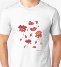 Swedish Poppies Unisex T-Shirt