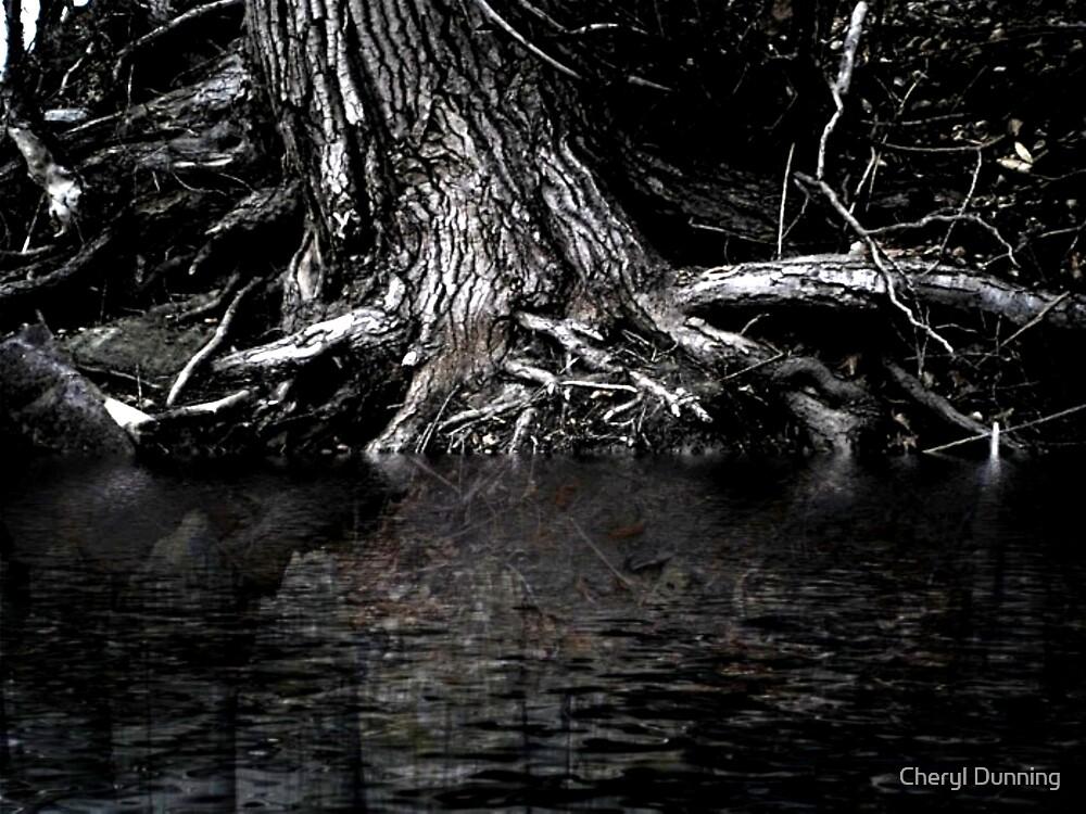dark creepy tree by Cheryl Dunning