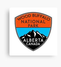 WOOD BUFFALO NATIONAL PARK ALBERTA CANADA Mountain Mountains Camping Hiking 2 Canvas Print