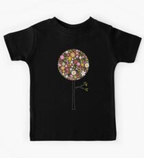 Whimsical Pink Pop Tree with Colorful Spring Flowers Kids Clothes