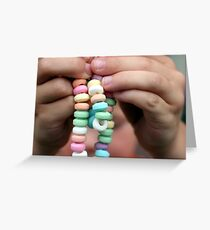Candy Necklace Greeting Card