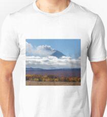 Beautiful view of explosive-effusive eruption Klyuchevskoy Volcano in Kamchatka Peninsula Unisex T-Shirt