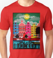 BICYCLE RIDING; In Amsterdam Holland Print T-Shirt