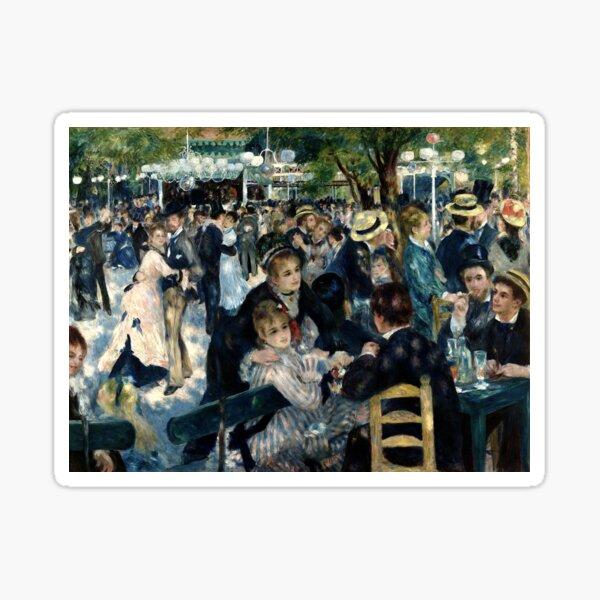 RENOIR. Dance at Le Moulin de la Galette, Edward Renoir. Sticker