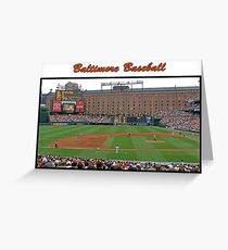 Baltimore Baseball Greeting Card