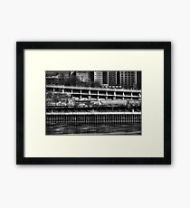 City Rail Framed Print