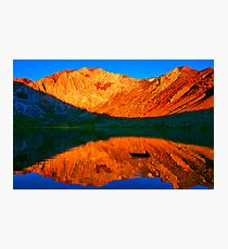 Sunset  in Convict Lake, Mammoth Lakes, California Photographic Print