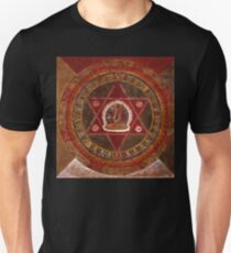 Vajrayogini stands in the center of two crossed red triangles T-Shirt