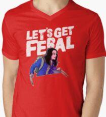 Laura gets feral Mens V-Neck T-Shirt