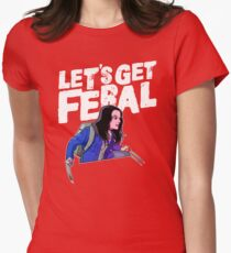 Laura gets feral Womens Fitted T-Shirt
