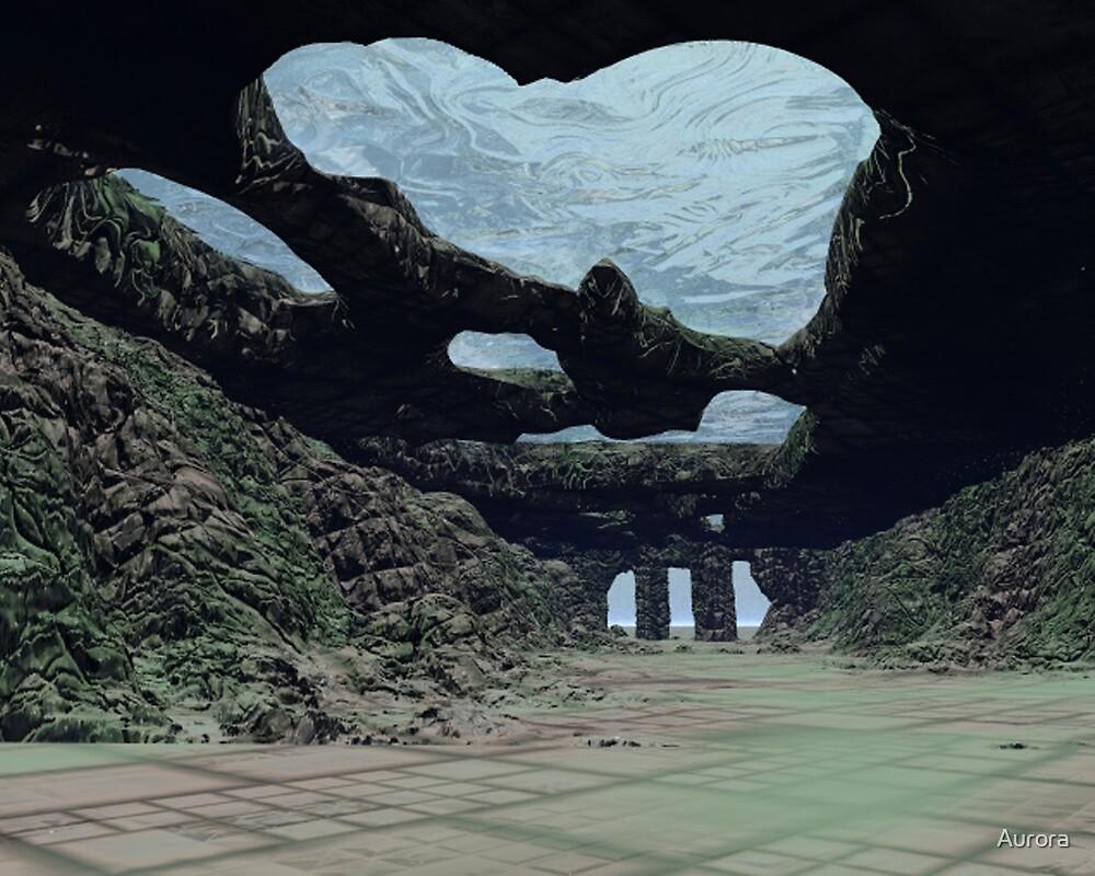 Underwater tunnels and ruins by Aurora