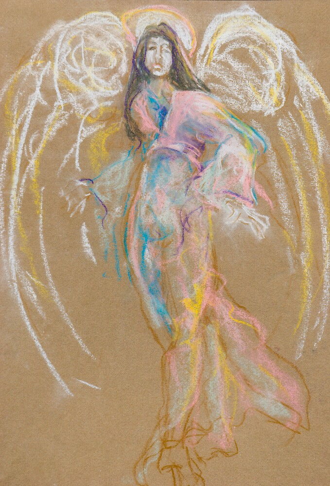 Pastel Angel by Linda J Armstrong