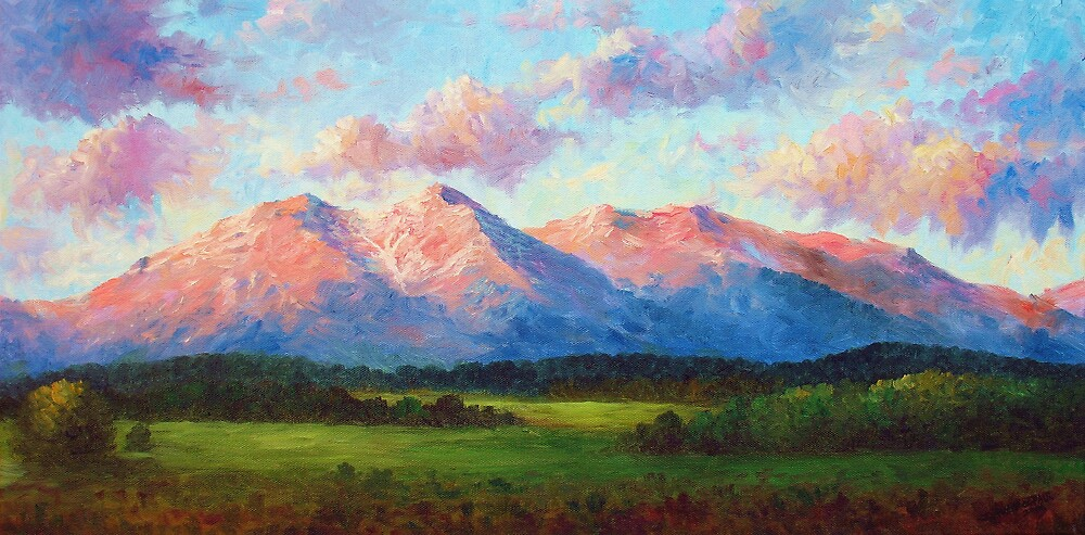 Morning Light On Mount Shavano by David Paul