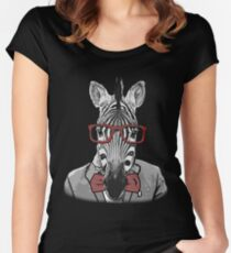 Hipster Zebra Women's Fitted Scoop T-Shirt