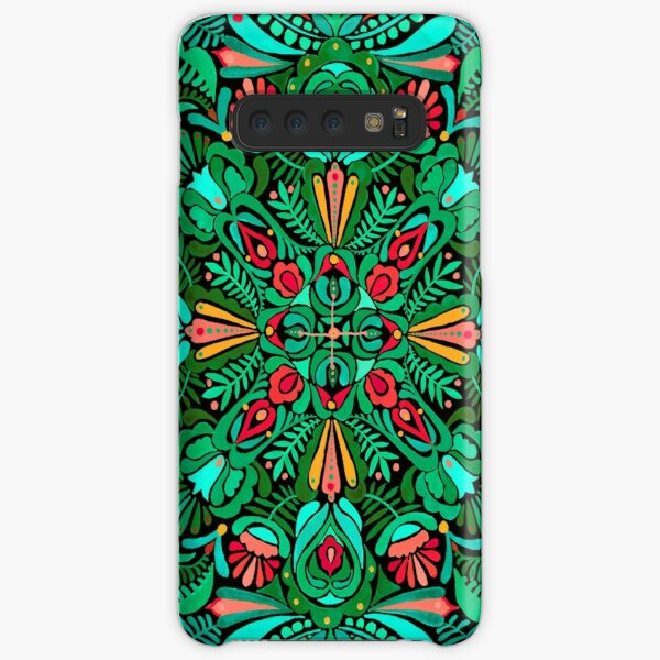 Red green floral spring mandala pattern Samsung Galaxy Snap Case