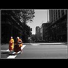 Monk Crossing by littlemissgiggles