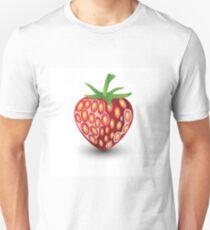 strawberry on white background Unisex T-Shirt