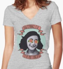 Communist Daughter Women's Fitted V-Neck T-Shirt