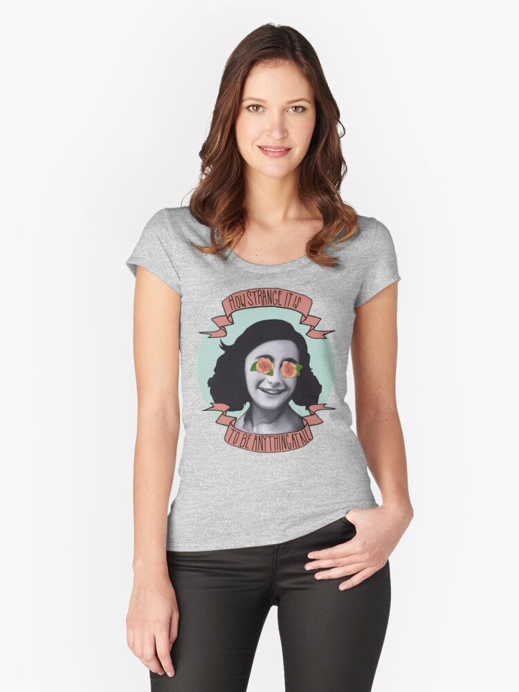 Communist Daughter Women's Fitted Scoop T-Shirt Front
