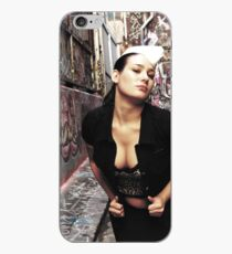 """Retro Pin Up, """"Dine In or Take Away"""" iPhone Case"""