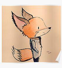 Tuxedo Fox Poster