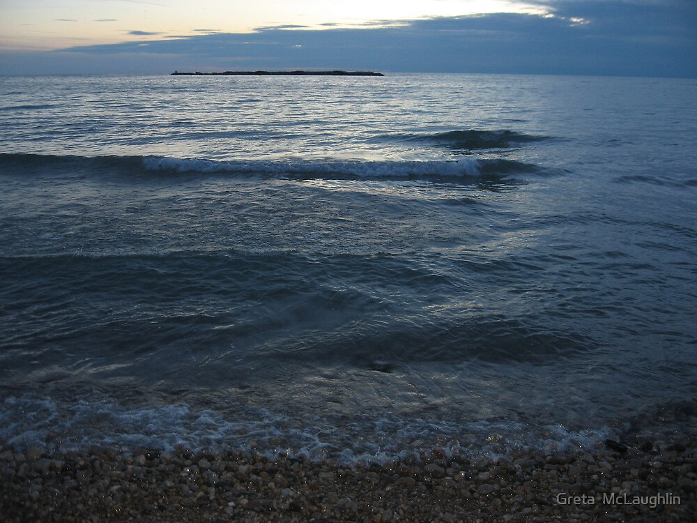 Gentle Evening Waves by Greta  McLaughlin