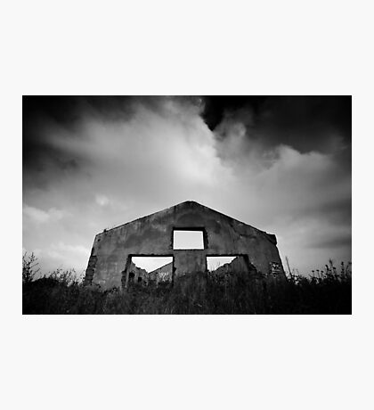 gloomy life of stand alone construction Photographic Print