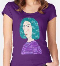 Random Portrait Women's Fitted Scoop T-Shirt