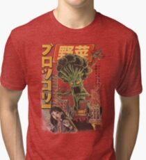 THE BROCCOZILLA Tri-blend T-Shirt