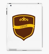 Red and Gold Badge 4 iPad Case/Skin