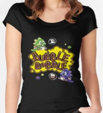Gaming [C64] - Bubble Bobble Women's Fitted Scoop T-Shirt