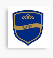 Blue and Bronze Badge 4 Canvas Print