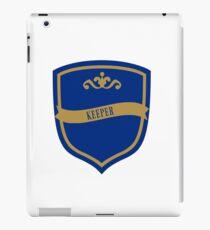Blue and Bronze Badge 4 iPad Case/Skin