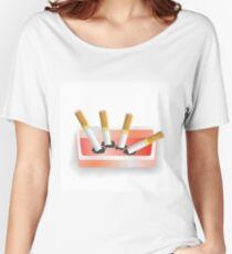 ashtray and cigarettes Women's Relaxed Fit T-Shirt