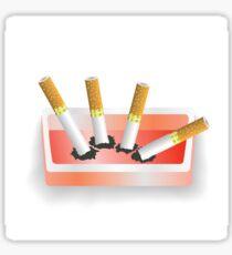 ashtray and cigarettes Sticker