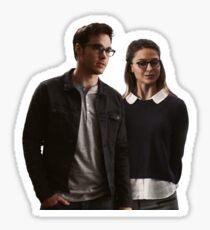 Karamel (Kara and Mon-El) portrait Sticker