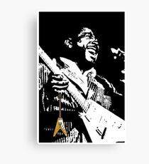 The King of the Blues Guitar Canvas Print