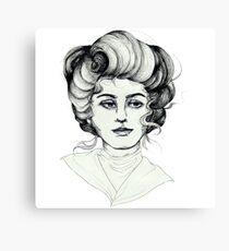 Pen and Ink Portrait Canvas Print