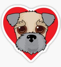Wheaten Terrier Face Sticker